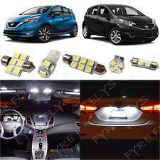 6x White Interior LED Light Package Kit fits 2014-2017 Nissan Versa Note NV1W