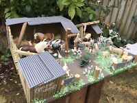 HOURS WASTED! 'TUMBLEDOWN' STABLES, WOODEN, FARM BUILDING FOR 'SCHLEICH'