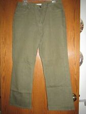 Coldwater Creek Denim Jeans - Size 16P - Olive Green