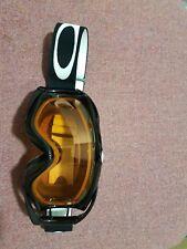 Oakley Occhiali Da Sci/Snowboard Occhiali Black Frame con lenti arancione Downhill MTB