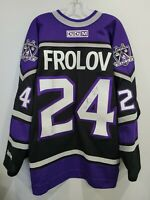 Autographed CCM NHL Los Angeles Kings Alexander Frolov 24 Jersey Mens 2XL Sewn