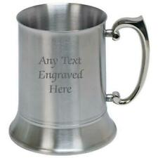 More details for personalised engraved stainless steel us 1 pint tankard 500ml  any text you want
