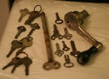Vintage Antique National Register Co Ohio Crank Handle Part Huge Key Old Keys