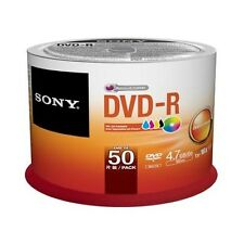 Sony (4.7GB Go) 120 minutes 16 x imprimable DVD-R sur Broche (Orange/blanc)