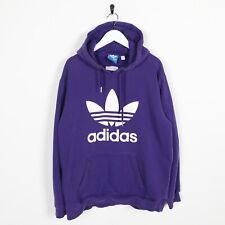 Vintage ADIDAS ORIGINALS Big Logo Hoodie Sweatshirt Purple Large L