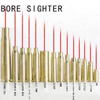 Brass Red Dot Laser Cartridge Bore Sighter Boresight For Gun Scope CAL Hunting
