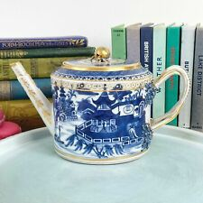 More details for antique 18th century chinese blue and white teapot, qianlong c.1790