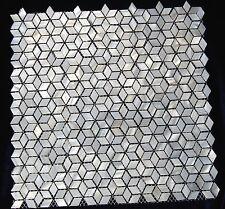 Madre de perla Azulejos de mosaico de concha de perla Mosaico Forma De Diamante Natural Forma Cube