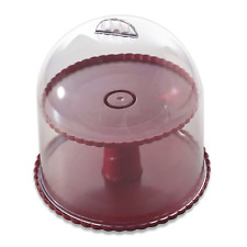 Dessert Stand W Dome Lid Holder Stroage Cupcake Cup Cake Plate Wedding Party