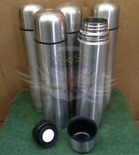 UK BRITISH ARMY SURPLUS STAINLESS STEEL DRINKS FLASK WITH QUICK POUR SPOUT & CUP