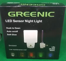 Greenic 2 PACK 0.5W Plug In LED Night Light with Dusk to Dawn Sensor Yellow