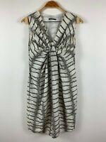 "Hugo Boss Womens Snake Printed Silk Dress Draped ""Doresa1"" Size 8"
