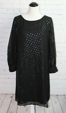 Lilly Pulitzer Maisel Silk Dress in Onyx Moroccan Metallic Clip Size 8