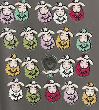 20Wooden  buttons craft  mixed round sheep