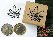P95 Smoking pot leaf rubber stamp