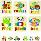 Wooden Toddler Puzzles Toy Gift Set, 6 Pack Animal Puzzles for Kids 2+ ~NEW~