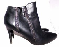Carlos Santana Dublin Ankle Boots Black 3.5 Stiletto Heels Sexy size 9 M