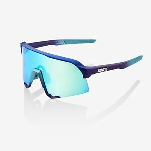 100% Percent Sunglasses S3 Matte Metallic Into the Fade Blue Topaz Mirror Lens