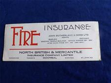 ADVERTISING INK BLOTTER NORTH BRITISH & MERCANTILE INSURANCE AGENT MONTREAL