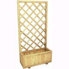 Pannello Grigliato in legno Blinky Gardenia Con Fioriera 30X75X150H