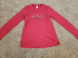 Red Long Sleeve Maternity Shirt Size Medium, Let It Show Maternity Top, winter