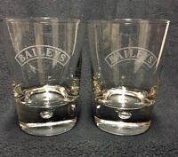 Baileys Original Irish Cream, Etch Logo Bubble Base Rocks Glasses, Set of 2