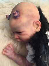 "Reborn Demon Baby Doll Horror 22"" OOAK ART Tomas"
