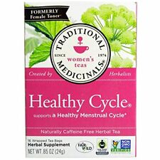 Traditional Medicinals Healthy Cycle Caffeine Free 16 Tea Bags (pack of 3)