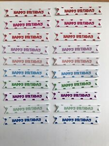 Card Toppers x 20 embellishments/toppers/card Making - Happy Birthday(SMALL)