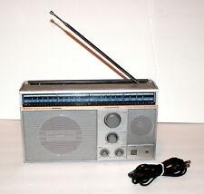 1980s MAGNAVOX D2600 POWER BOOSTER BOOMBOX AM/FM RADIO RECEIVER + power cord VTG