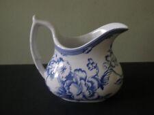 Spode Clifton Blue Floral Transfer Cream Pitcher / Creamer - Mint