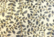 Bernartex METALLIC LACE (Black/Gold) 100% Premium Cotton Quilt Fabric-per 1/2 yd