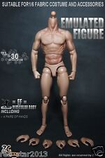 1/6 Scale 12Inch Male Muscle Body Action Figure Can Fit Hot Toys Head