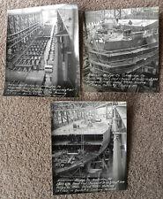 NAVY SHIP BUILDING AMERICAN BRIDGE CO. 1943 8X10 SET OF 5 PHOTOS