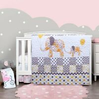 Baby Quit Elephant baby quilts for girls & Boys Crib Bedding Blanket(38 x 45 in)
