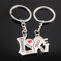 Romantic Forever Love You Couple Keychain Ring Keyring Keyfob Lover Gift Hot 2X