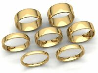 Comfort Fit EuroDome Wedding Band Ring Mens Womens 2mm-8mm Solid 10k Yellow Gold