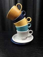 Fiesta Fiestaware Tea Cups Lot Assorted Colors VINTAGE