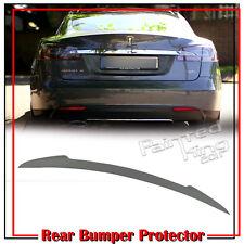 Unpainted For Tesla Model S 70 85D Saloon 4D V Trunk Boot Spoiler 12-18