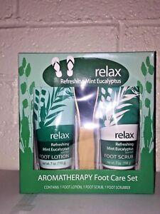 relax REFRESHING MINT EUCALYPTUS Aromatherapy  3 piece Foot Care Set