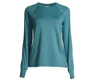 Athletic Works Women's Active Long Sleeve Tee size Medium Green Semi-Fitted New