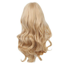 Sand Strawberry Blonde Long Softly Waved Charming Curly Costume Wig Hair G1d1