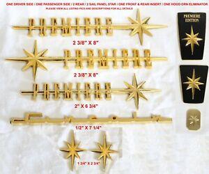 03-11 LINCOLN TOWNCAR PREMIERE EDITION REPRODUCTION GOLD PLATED 9 PC EMBLEM SET
