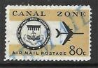 xst145 Scott CZC47 US Canal Zone Possession Air Mail Stamp 1965 80c Seal and Jet