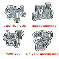 4x Cutting Dies Cutting Stencil DIY Embossing Scrapbook Paper Card Making Craft