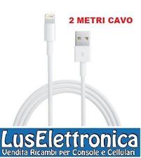 NUOVO CAVO DATI APPLE IPHONE 5 ORIGINALE DA LIGHTNING A USB IPOD 5 CAVO 2 METRI