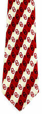 Oklahoma Sooners Mens Silk Necktie University College Alumni Gift Neck Tie New