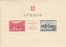 Serbia Hinged Sc 2Nb5 Occupation stamp Souvenir sheet