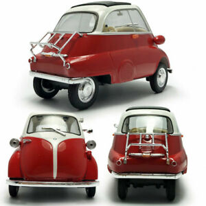 1/18 Vintage 1955 BMW Isetta Model Car Diecast Vehicle Collection Gift Red