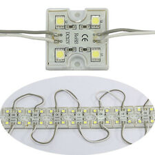 100pcs 4 LED Cool White 5050 SMD Module Waterproof Light Lamp Strip DC 12V